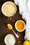 Healthy Vegan Coconut and Lemon Truffles Royalty Free Stock Photography
