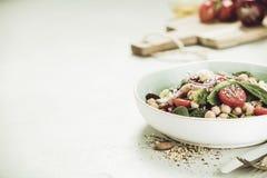 Healthy vegan energy boosting salad Stock Image