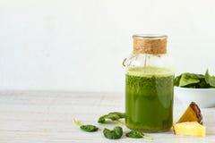 Healthy vegan green smoothie Royalty Free Stock Image