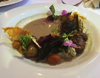 Healthy Vegan Mushroom Salad royalty free stock photos