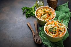 Salad with Chinese cabbage and carrot Royalty Free Stock Image