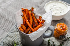 Healthy vegetable chips - french fries beet, celery and carrots Royalty Free Stock Images