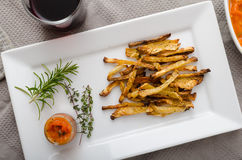 Healthy vegetable chips - french fries beet, celery and carrots Stock Images