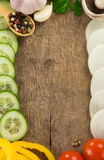 Healthy vegetable food and wood Royalty Free Stock Image