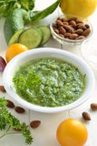 Healthy vegetable green smoothies Stock Image