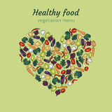 Healthy vegetable heart Royalty Free Stock Photos