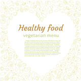 Healthy vegetable heart. Vegetarian menu. Royalty Free Stock Photo