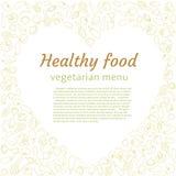 Healthy vegetable heart. Vegetarian menu. Royalty Free Stock Photo