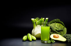 Healthy vegetable juices for refreshment and as an antioxidant Royalty Free Stock Photos