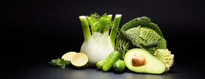 Healthy vegetable juices for refreshment and as an antioxidant Stock Image