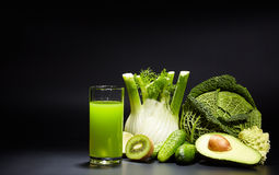 Healthy vegetable juices for refreshment and as an antioxidant Royalty Free Stock Images