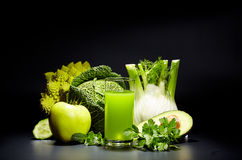 Healthy vegetable juices for refreshment Royalty Free Stock Images