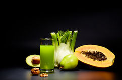 Healthy vegetable juices for refreshment Royalty Free Stock Photography