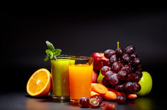 Healthy vegetable juices for refreshment Stock Photo