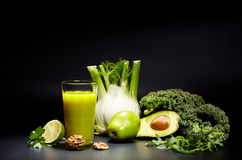 Healthy vegetable juices for refreshment Stock Photos