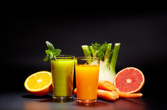 Healthy vegetable juices for refreshment and as an antioxidant Stock Images