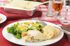 Healthy vegetable lasagna Royalty Free Stock Images