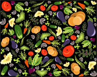 Healthy vegetable pattern Stock Image