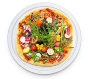 Healthy vegetable pizza Stock Images