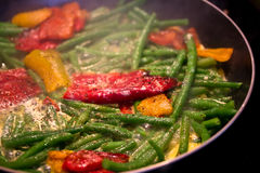 Healthy vegetable recipe. A shot of a vegetable recipe in the making stock image