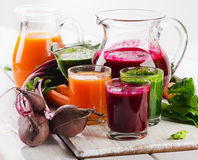 Healthy vegetable smoothie and juice Stock Photography