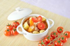 Healthy vegetable soup in a bowl Stock Image