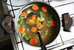 Healthy vegetable soup Royalty Free Stock Images