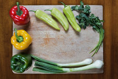 Healthy Vegetables on chopping block Stock Images