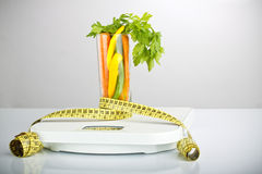 Healthy vegetables in a glass Royalty Free Stock Photo