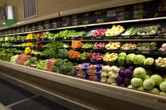 Healthy vegetables grocery store. Lots of healthy vegetables in a small grocery store Royalty Free Stock Photography