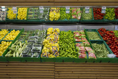 Healthy vegetables grocery store Stock Image