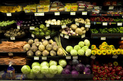 Healthy vegetables grocery store Royalty Free Stock Images