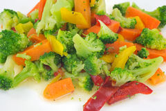 Healthy vegetables on plate in oil Royalty Free Stock Photography