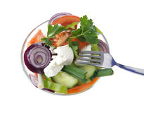 Healthy vegetables salad Stock Photography
