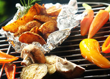 Healthy vegetarian barbecue Royalty Free Stock Photography