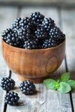 Healthy vegetarian blackberry sweet organic snack Stock Photo