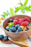 Healthy vegetarian breakfast Royalty Free Stock Images