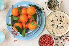 Free Healthy, Vegetarian Breakfast On The Table Royalty Free Stock Photo - 28704915