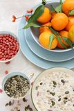 Healthy, vegetarian breakfast on the table Royalty Free Stock Photo