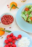 Healthy, vegetarian breakfast on the table Stock Image