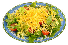 Healthy Vegetarian Cheese Salad Meal Royalty Free Stock Images