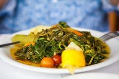 Healthy vegetarian cretan salad Royalty Free Stock Image