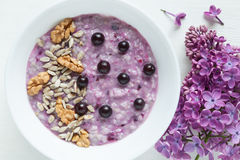 Healthy vegetarian diet meal. Clean eating oatmeal Stock Photography