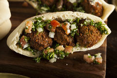 Healthy Vegetarian Falafel Pita Stock Images