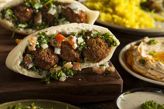 Healthy Vegetarian Falafel Pita Stock Photos