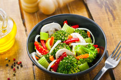 Healthy vegetarian food Stock Images