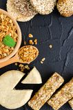 Healthy vegetarian food concept royalty free stock images