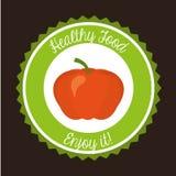 Healthy vegetarian food design Royalty Free Stock Photos