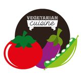 Healthy vegetarian food design Royalty Free Stock Image