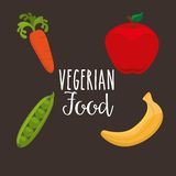 Healthy vegetarian food design Stock Images